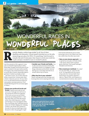 Wonderful races in wonderful places